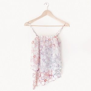 Maeve Anthropologie | Daisy Garden Tiered Tank Top